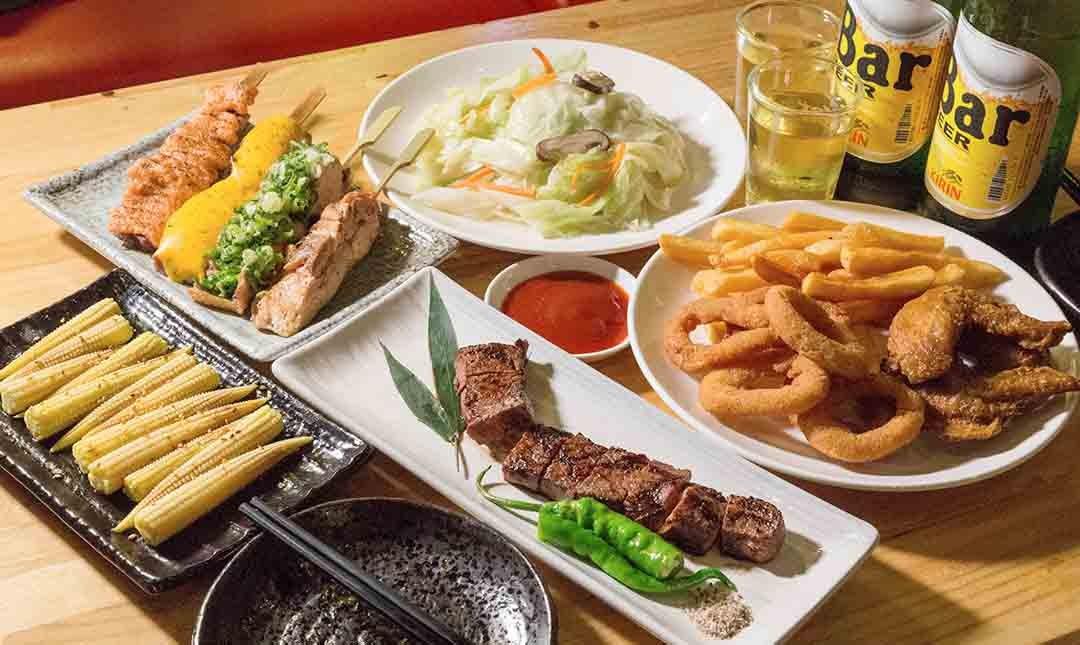 酌燒串燒酒食-深夜飛鏢食堂 | 四人分享套餐