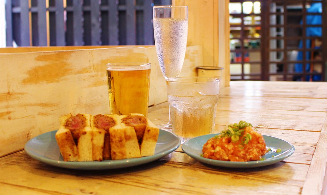 Sinada-微醺套餐:三杯酒+agu豬排三明治+小菜