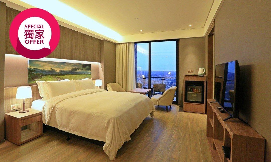 村却國際溫泉酒店 x 羅東五星酒店-儷緻客房 3h x 雙浴池+露天陽台