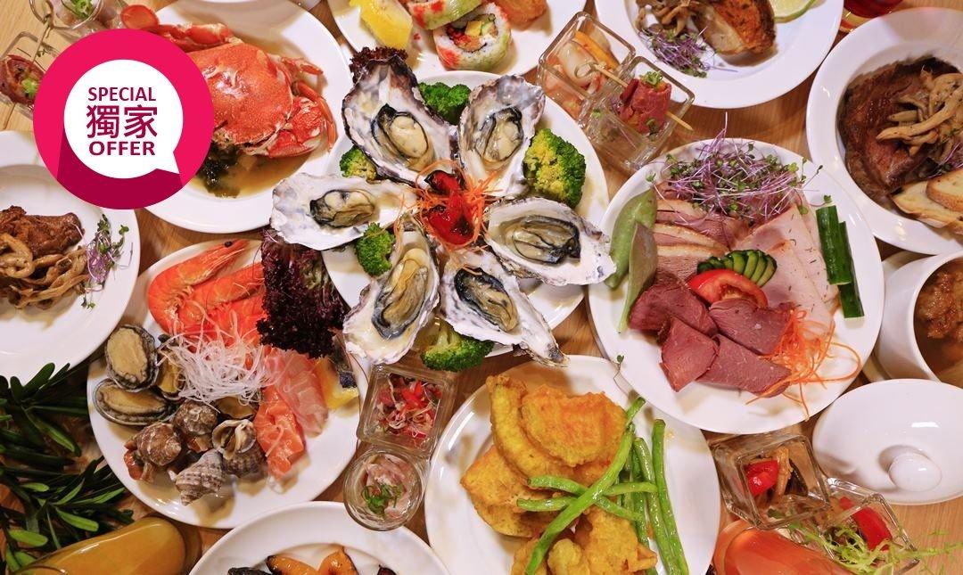 村却國際溫泉酒店 x 羅東五星酒店-春節自助餐|雙人明廚自助百匯