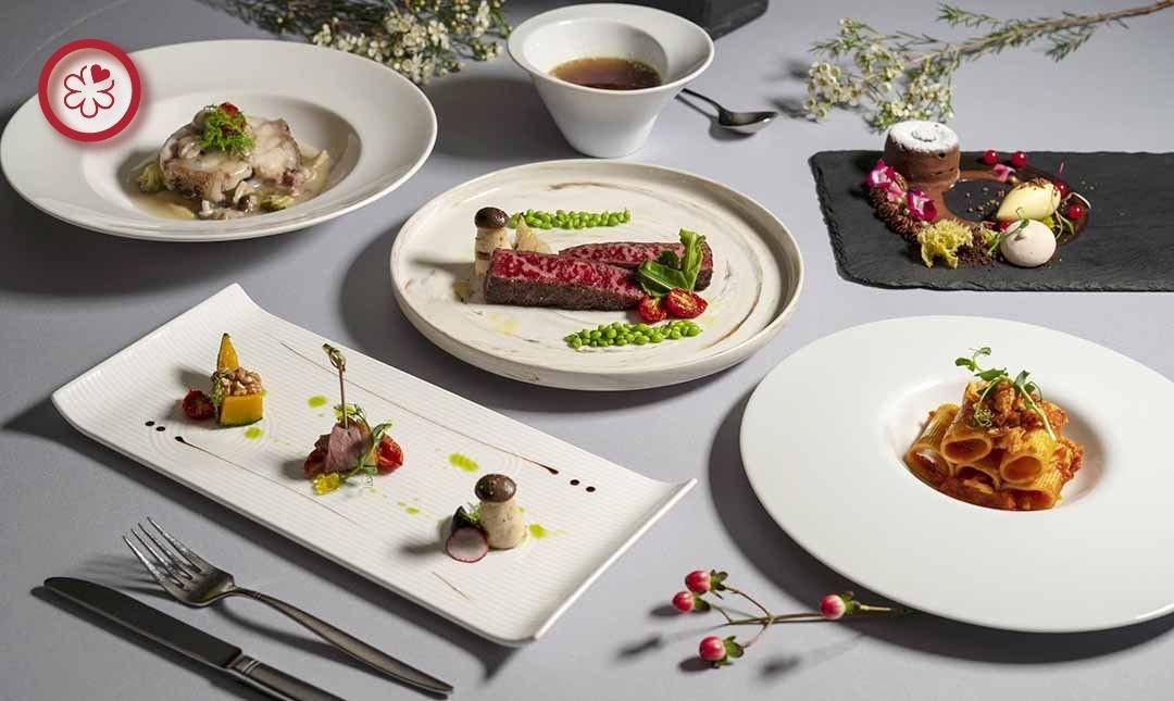 米其林餐盤 | 喜來登飯店安東廳-古典高雅 | 雙人午間菜單