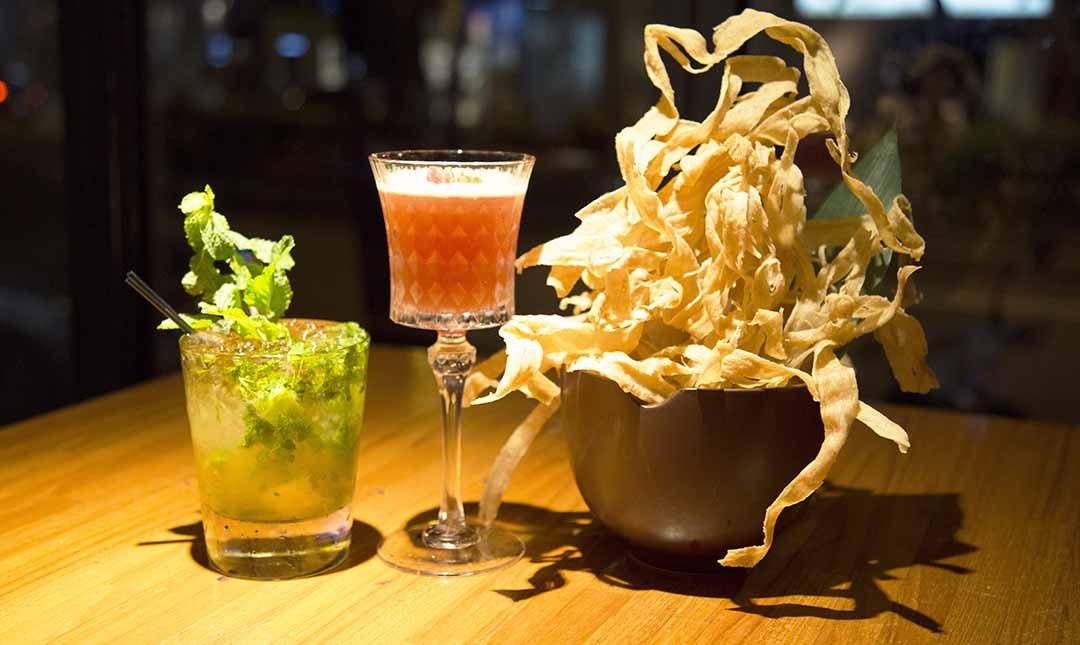 ICHI-客製調酒 2 杯+酥炸牛蒡