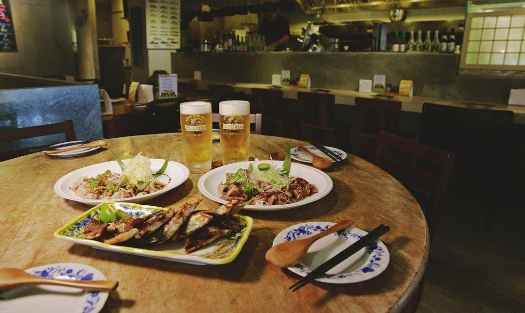 香聚餐酒館-一夜干 + 頂級肉類 + 生啤2杯
