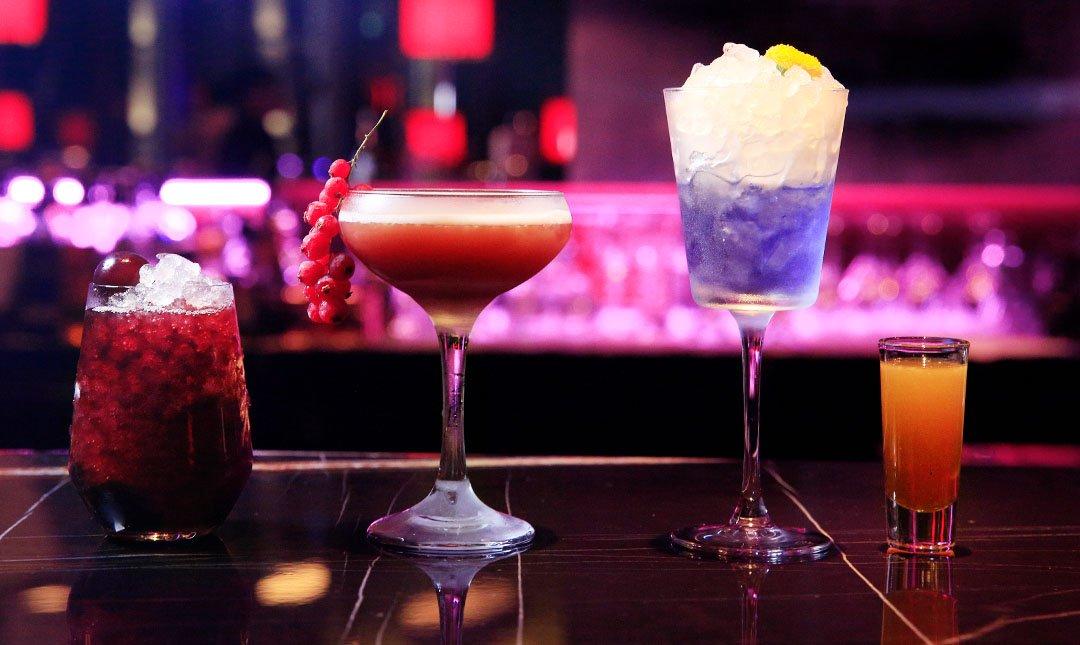 台北 W 飯店|31樓紫艷酒吧-星空饗宴 | 紫色系列調酒 3 選 2
