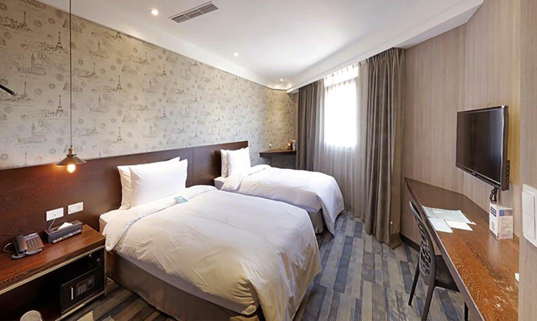 康瀚行旅-旅順客房 – 兩小床