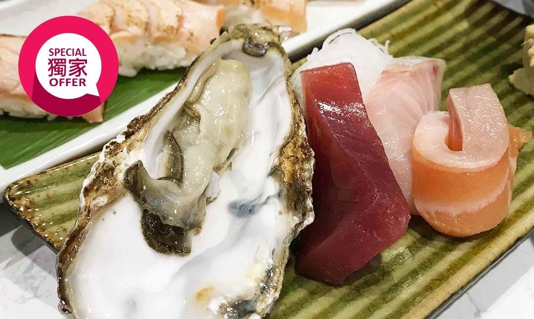 土狗樂市 togo market-鮭魚炙燒 6 貫套餐   贈生蠔 1 顆