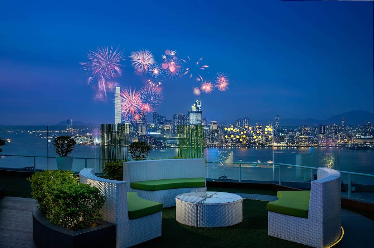The Park Lane Hong Kong SkyBar Fireworks Party at Causeway Bay